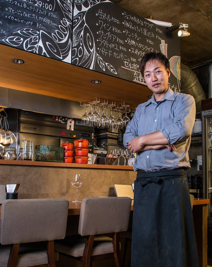 Harada-san is the owner and chef at this high end eatery.