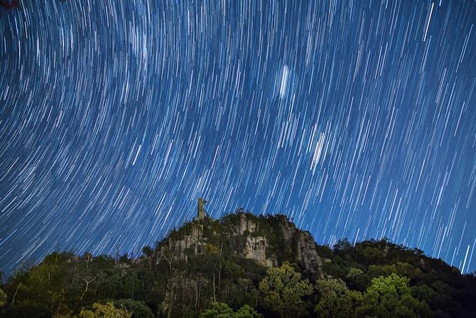 38 frames stacked. Each frame shot at f/2.8, ISO 800, 30 seconds.