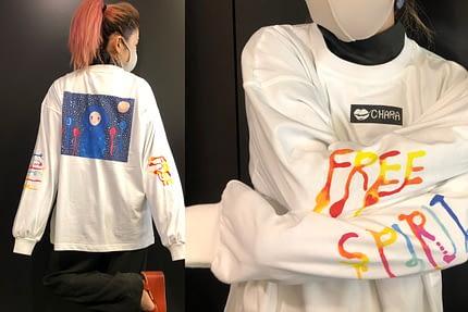 Chara×日暮愛葉 FREE SPIRIT ロングTシャツ